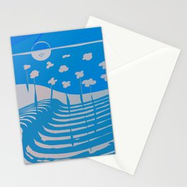 Walk in the Virtual Side, Monochromatic Scenery Stationery Cards