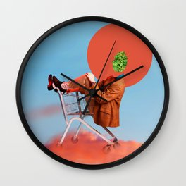 I'm Flying High - Funny Collage Artwork  Wall Clock