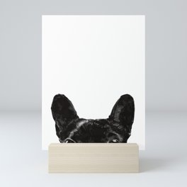 Peeking French Bulldog Mini Art Print