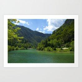 Calm River Bath Mat Art Print