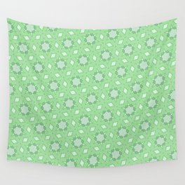 Pastel green geometry Wall Tapestry