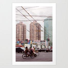Traffic jam Art Print