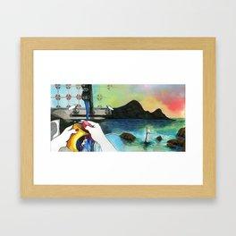 Washing Up Framed Art Print