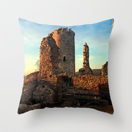 The ruins of Waxenberg castle | architectural photography Throw Pillow