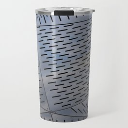Metal shapes with line notches texture Travel Mug
