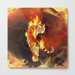 Chinese tiger painting  Metal Print
