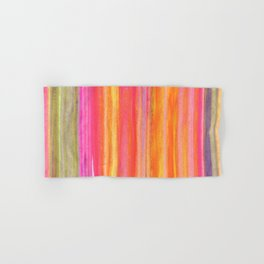 Neon Line Streaks Abstract Hand & Bath Towel