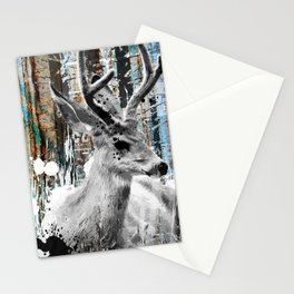 Deer in the Industrial Woods Stationery Cards