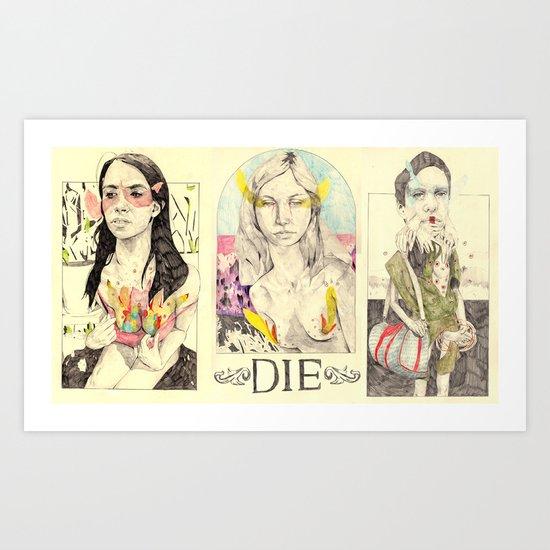 3figuresofdie Art Print