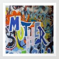 Street Art Mother Art Print