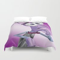 fear Duvet Covers featuring Fear by KL Design Solutions