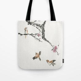 Sparrows & Blossoms Tote Bag