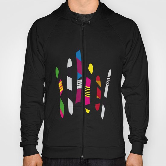 colored sticks 3 Hoody