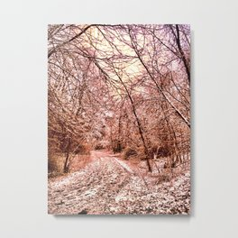 """""""Footsteps In The Snow"""" Metal Print"""