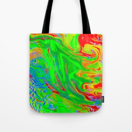 Space OF Flowing Colours Tote Bag