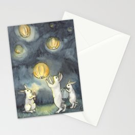 Sky Lanterns Stationery Cards