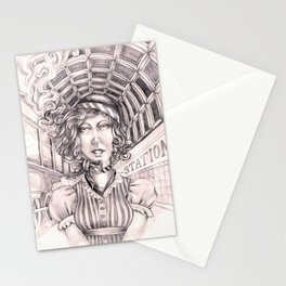Entering Central Station Stationery Cards