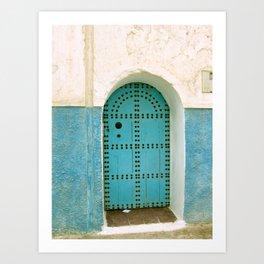 Moroccan Door Art Print