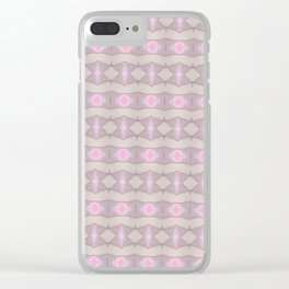 Horizontal geometic stripes - violet Clear iPhone Case