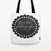 logo Tote Bags featuring Logo by brookmariephotography