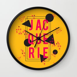 Jacquerie Gold Wall Clock