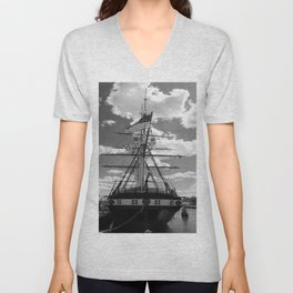 Baltimore Harbor - USS Constellation Unisex V-Neck