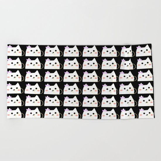 cat-814 Beach Towel