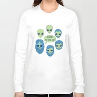 aliens Long Sleeve T-shirts featuring aliens by gotoup
