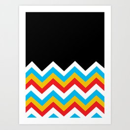 Color Blocked Chevron 18 Art Print