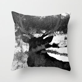 Stag in the Shadows Throw Pillow