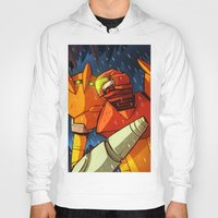 metroid Hoodies featuring Samus (Metroid) by Peerro