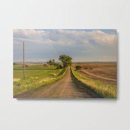 County Road, North Dakota 19 Metal Print