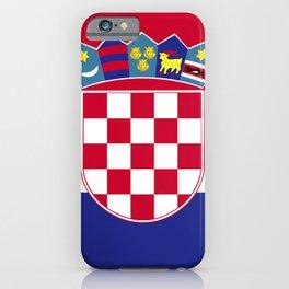Croatia flag emblem iPhone Case