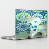 lamb Laptop & iPad Skins featuring  Lamb by Vintage  Cuteness