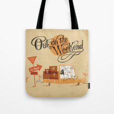 Out on the Weekend Tote Bag