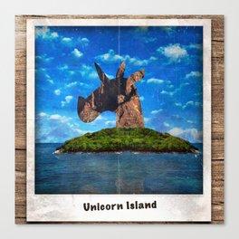 Island Head Unicorn Canvas Print