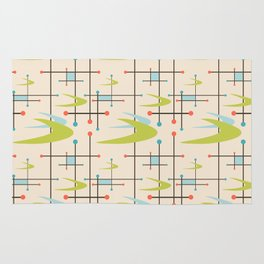 Mid Century Modern in Lime and Blush Rug
