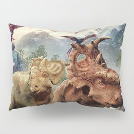 Jurassic dinosaurs playing Pillow Sham