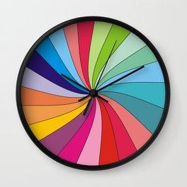 Rainbow colorful spiral Wall Clock