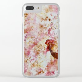 Rooster Chicken Clear iPhone Case