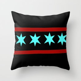 Chicago Flag (traditional) Throw Pillow