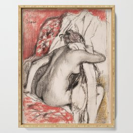 Edgar Degas - After the Bath- Seated Woman Serving Tray