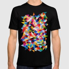 Space Shapes Mens Fitted Tee MEDIUM Black