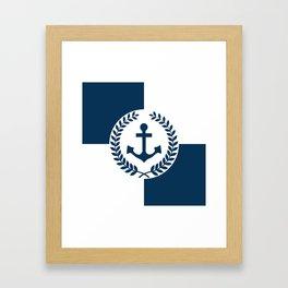 Nautical themed design 2 Framed Art Print