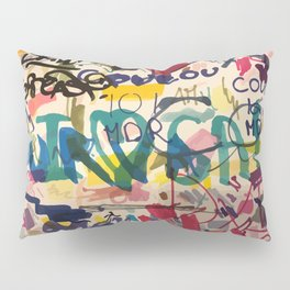 Urban Graffiti Paper Street Art Pillow Sham