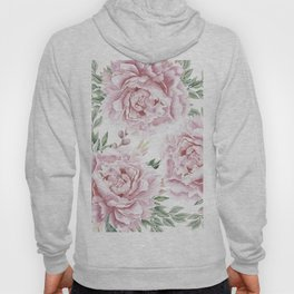 Pretty Pink Roses Flower Garden Hoody