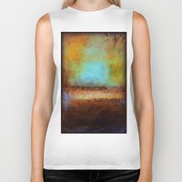 swimming Biker Tanks featuring Swimming by Liz Moran