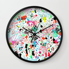 Animals doodle Wall Clock