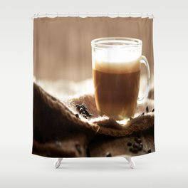 My Coffee in the morning Shower Curtain