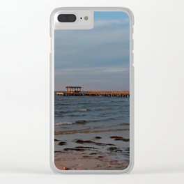 Bokeelia Pier at Sunset Clear iPhone Case